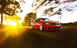 Volkswagen Golf Tuning Car Sunlight