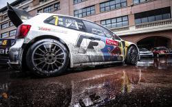 Vw wrc rallye car