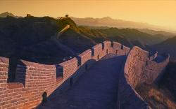 Wall of china evening