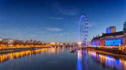 nature lake sunset landscape london eye twalight night ultrahd 4k wallpaper wallpaper