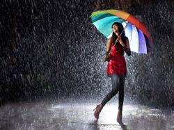 Girl In Rain HD Wallpaper