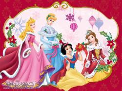 Disney Princess Christmas - walt-disney-characters Wallpaper