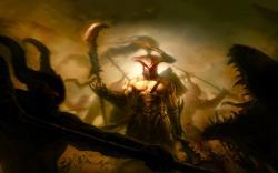 Warrior battle monsters