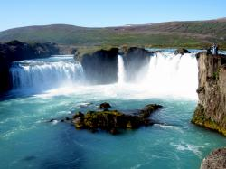 The second stop was at Goðafoss waterfall, where we stopped for 50 minutes. Goðafoss waterfall is one of the most beautiful waterfalls in Iceland.