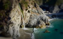 Waterfall on Beach