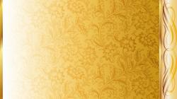 Gold And White Pattern Wallpaper