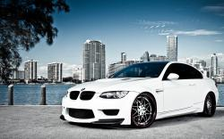 Description: Download White BMW M3 Over Miami Car Wallpaper | White BMW M3 Over Miami 1920x1200 Resolution HD Widescreen Desktop Background & Stock Photo.