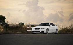 White BMW M3 E92 Car