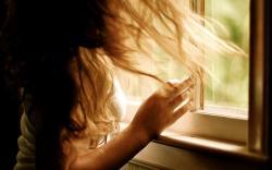Window Girl Close-Up Photo HD Wallpaper