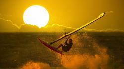 Windsurfing at Sunset