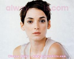 "Winona Ryder Wallpaper - Right click your mouse and choose ""Set As Background"" to"