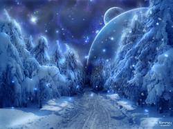 winter season snow fantasy art alien landscapes