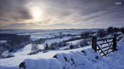 Winter landscape wallpaper 1920x1080