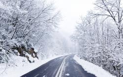 Winter Road Background 13729