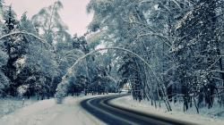 Winter Road Backgrounds 13737
