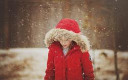 Snow Girl Child Winter Snowflakes Mood