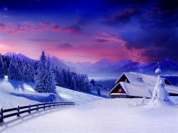 Beautiful Winter Snow Background