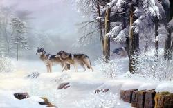 Winter wolves art
