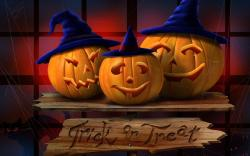 Trick Or Treat Halloween 3D Wonderful HD Wallpaper