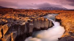 Wonderful River Through Sea Of Rocks HD wallpapers