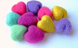 Colorful Wool Heart