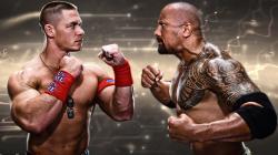 WWE John Cena The Rock Dwayne Johnson
