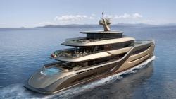 Aluminum mega-yacht / semi-displacement hull E MOTION 55 Admiral yachts ...