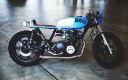 Yamaha Motorcycle Vintage Motorbike Side