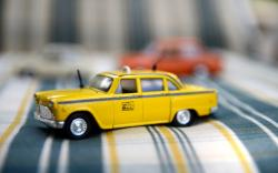 Yellow Cab Car Toy Photo