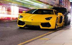 Yellow Lamborghini Reventon