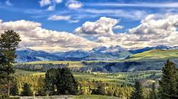 Fantastic green meadows in yellowstone hdr HQ WALLPAPER - (#94707)