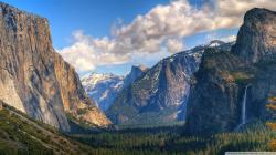 Wallpaper of the yosemite valley