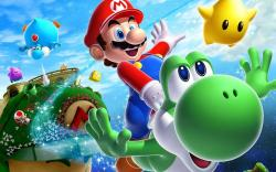 Super Mario With Yoshi Wallpaper 1280x800