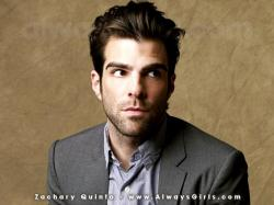 "Zachary Quinto Wallpaper - Right click your mouse and choose ""Set As Background"" to"