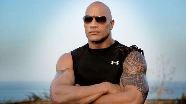 dwayne johnson muscles
