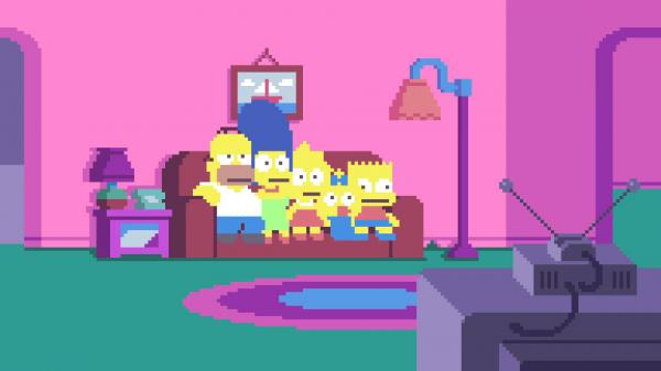 simpsons art
